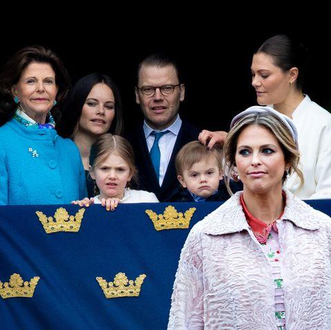 Königin Silvia, Prinzessin Sofia, Prinz Daniel, Prinzessin Victoria, Prinzessin Estelle, Prinz Oscar, Prinzessin Madeleine