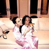 Was tut man nicht alles für die Schönheit?! Mama Mariah und Töchterchen Monroe legen einen Beauty-Tag ein.