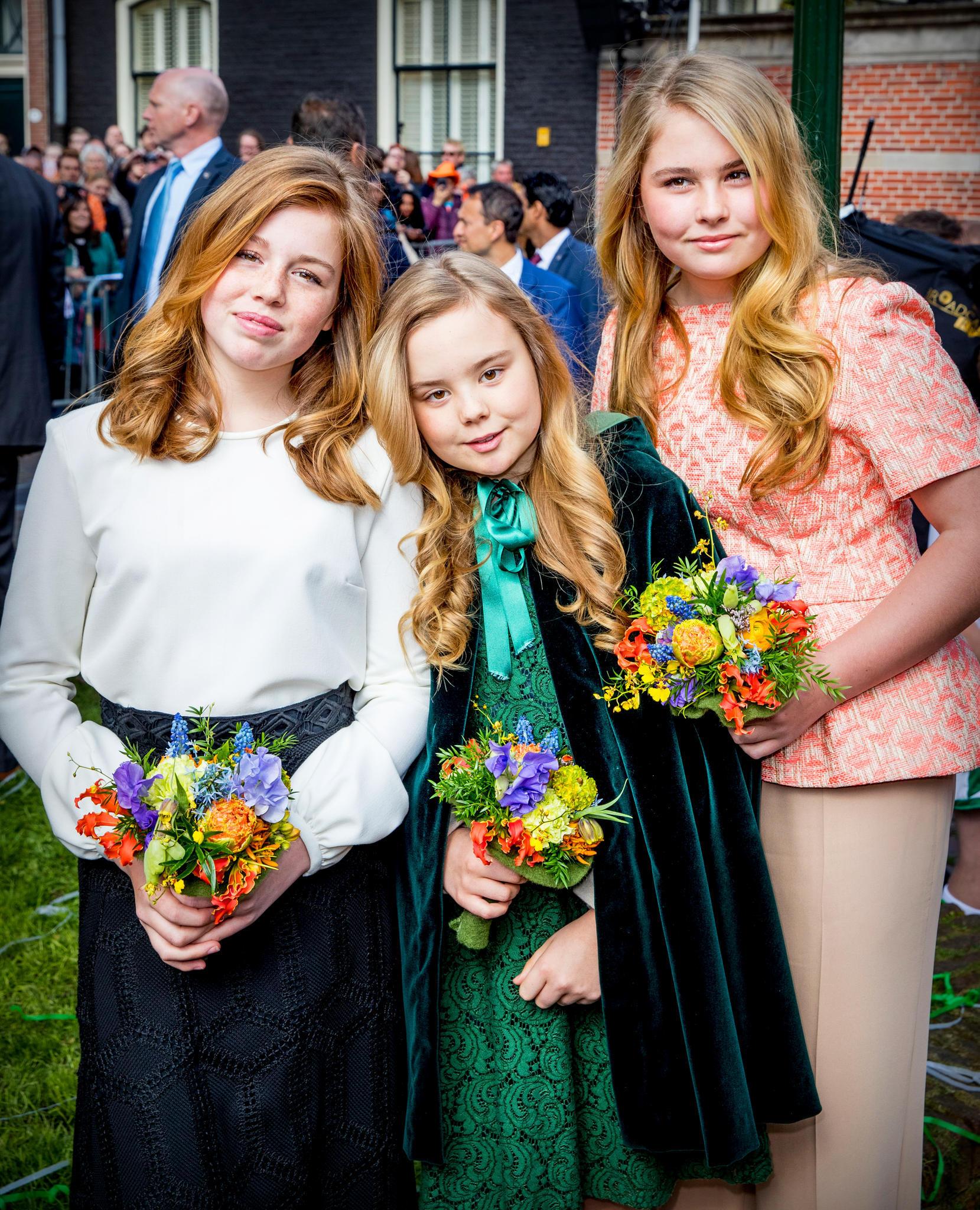 Bildschöner Nachwuchs des niederländischen Königshauses: Auf ihre Töchter Alexia, Ariane und Amalia (v. l.)