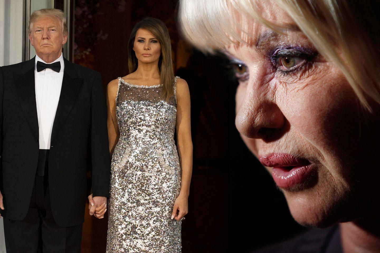 Donald und Melania Trump bekommen von Ivana Trump Gegenwind