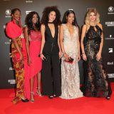 """Sie posieren, als hätten sie nie etwas anderes getan: Die Kandidatinnen der diesjährigen, aktuellen Staffel von """"Germany's next Topmodel"""" (v.l.n.r.) Toni, Abigail, Giuliana, Shari und Gerda."""