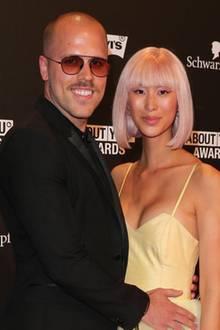 Anh Phuong mit ihrem Verlobten Patrick Maschke