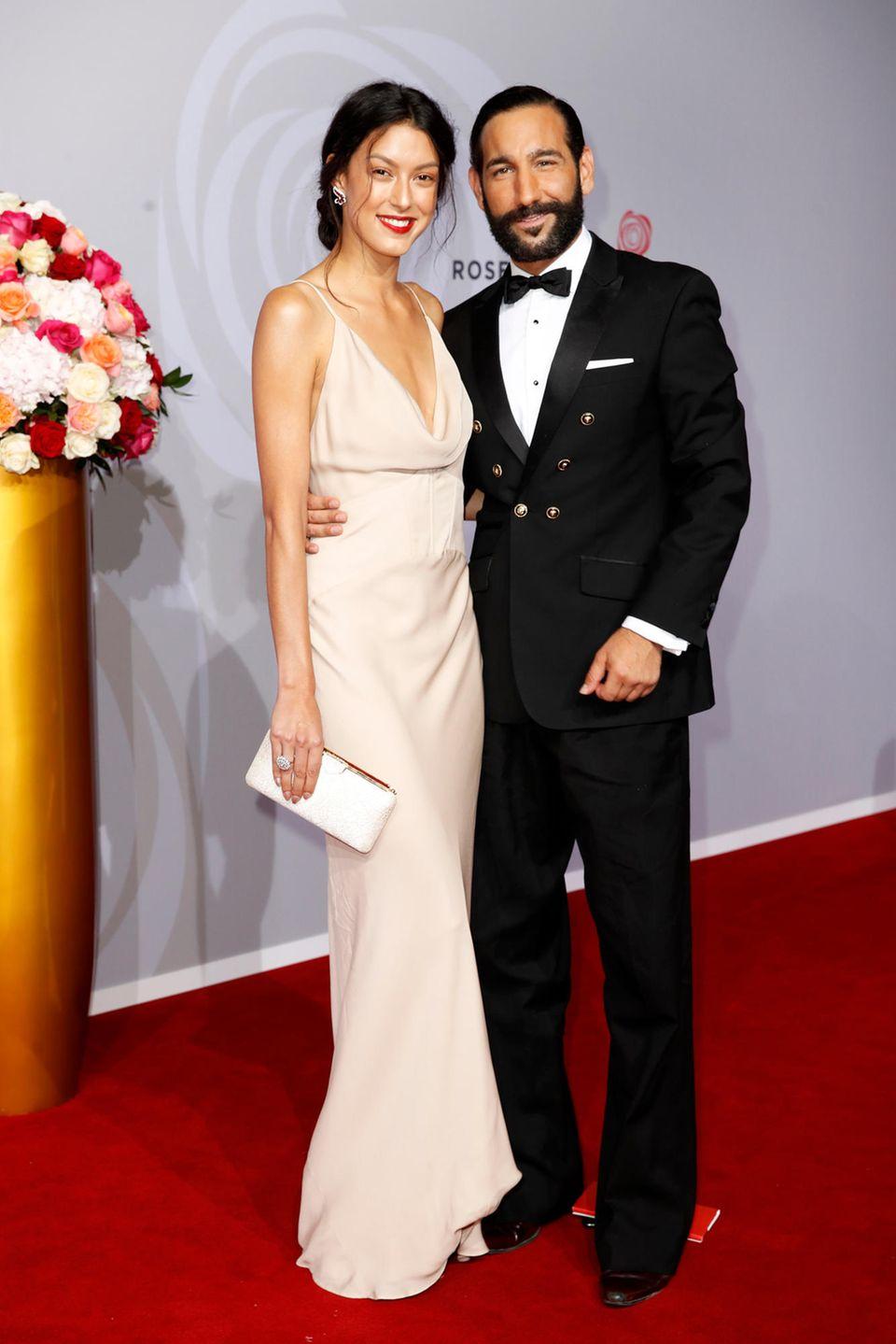 Wie immer stilsicher: Model Rebecca Mir und Tänzer Massimo Sinato.
