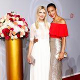 Tanja Bülter und Annabelle Mandeng zeigen sich in wunderschönen Looks auf dem Red Carpet.