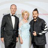 Thomas Rabe, Vorstandsvorsitzender Bertelsmann, Gastgeberin Liz Mohn und Sänger Adel Tawil.
