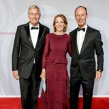 Ulrich Wickert, Julia Jäkel (Vorstandsvorsitzende Gruner + Jahr) und Thomas Rabe (Vorstandsvorsitzender Bertelsmann).