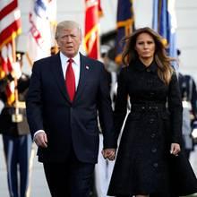 Donald und Melania Trump, das aktuelle Präsidentenpaar der Vereinigten Staaten von Amerika