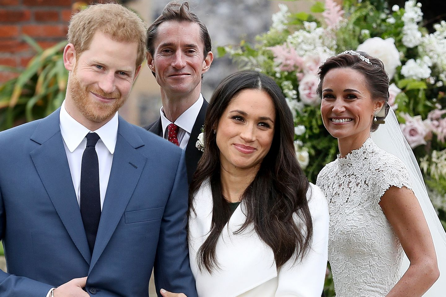 Prinz Harry, Meghan Markle, James + Pippa Matthews