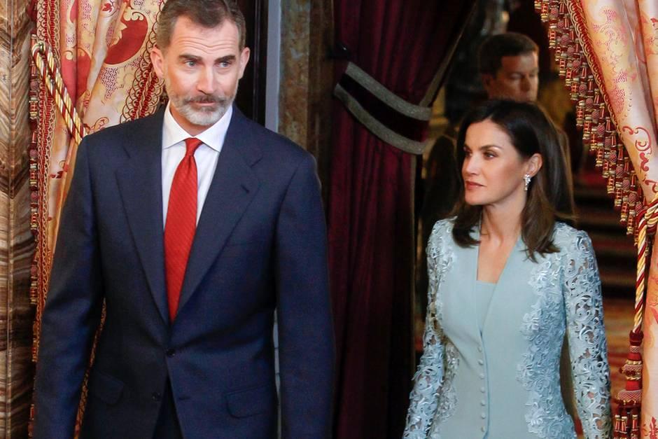 Königin Letizia König Felipe Am Hochzeitstag Getrennt Galade