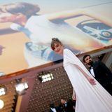 """Die französische Schauspielerin Louise Bourgoin posiert elfengleich kurz vor der Vorstellung des Films """"Yomeddine""""."""