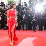 Model Irina Shayk bei dem, was sie am besten kann: Einfach toll aussehen.