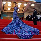 Wie immer traumhaft schön zeigt sich Bollywood-Star Aishwarya Rai auf der Festivaltreppe.