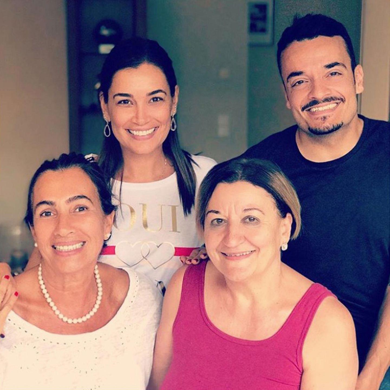 """""""Mamas sind einfach die Besten""""! Da hat Jana Ina Zarrella, hier mit Mama Rita neben Giovanni mit seiner Mutter Clementina, vollkommen recht."""