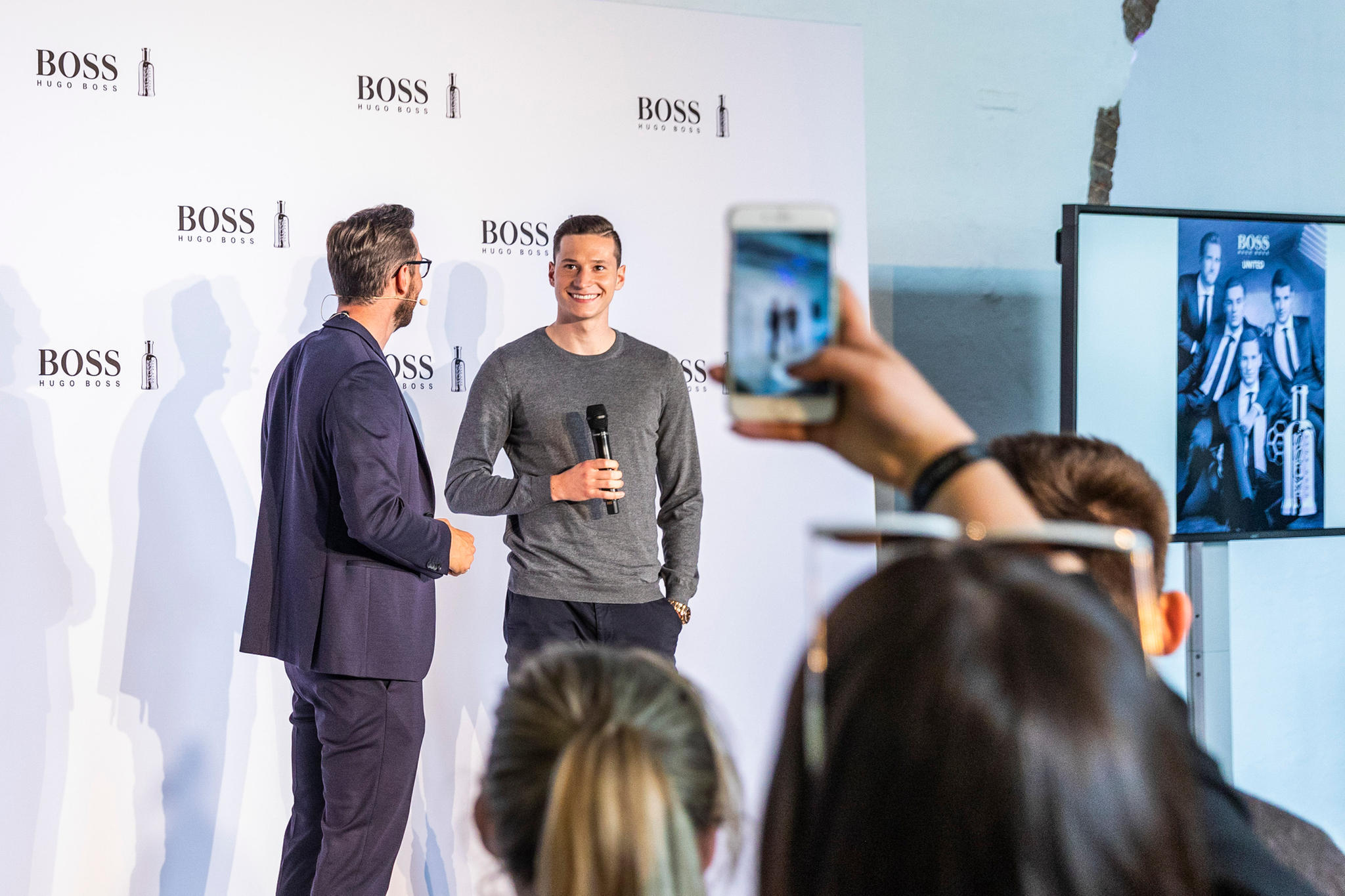 Julian Draxler beim Event zum Duft BOSS Bottled United.