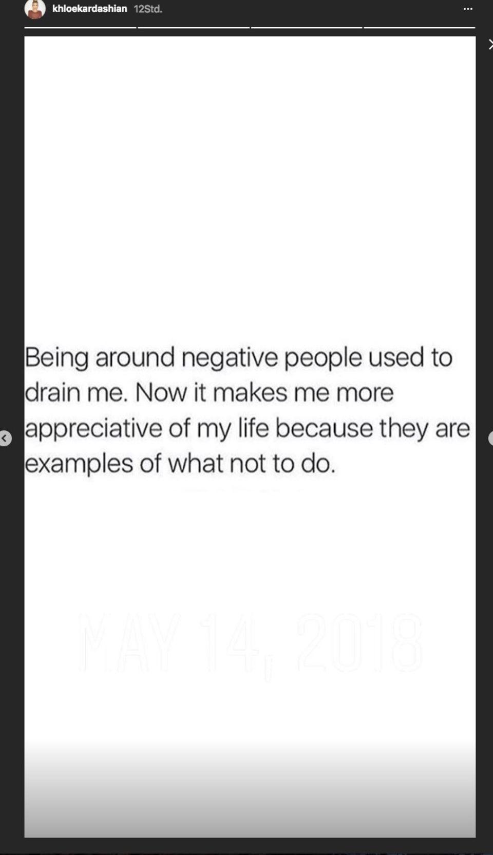Dieses Statement postete die frisch gebackene Mutter in ihre Instagram-Story.