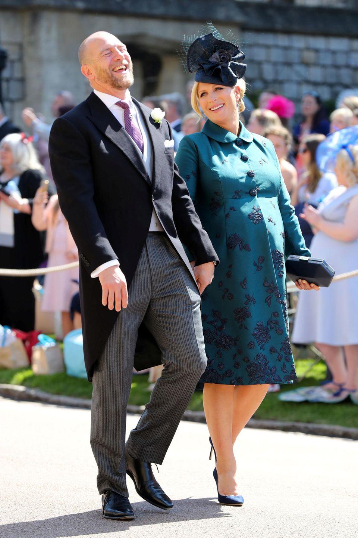 Mike Tindall und die schwangere Zara Phillips