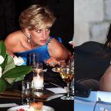 Meghan Markle trägt den Ring von Lady Diana  Die Braut Meghan Markle trägt am Abend einen ganz besonderen Ring an ihrer rechten Hand. Das bläulich schimmernde Schmuckstück hatHarrys 1997 gestorbener Mutter Diana gehört und ist nun offenbar ein Hochzeitsgeschenk Harrys an seine Braut. Prinzessin Diana war bei einem tragischen Autounfall in Paris ums Leben gekommen, damals war Harry zwölf Jahre alt.