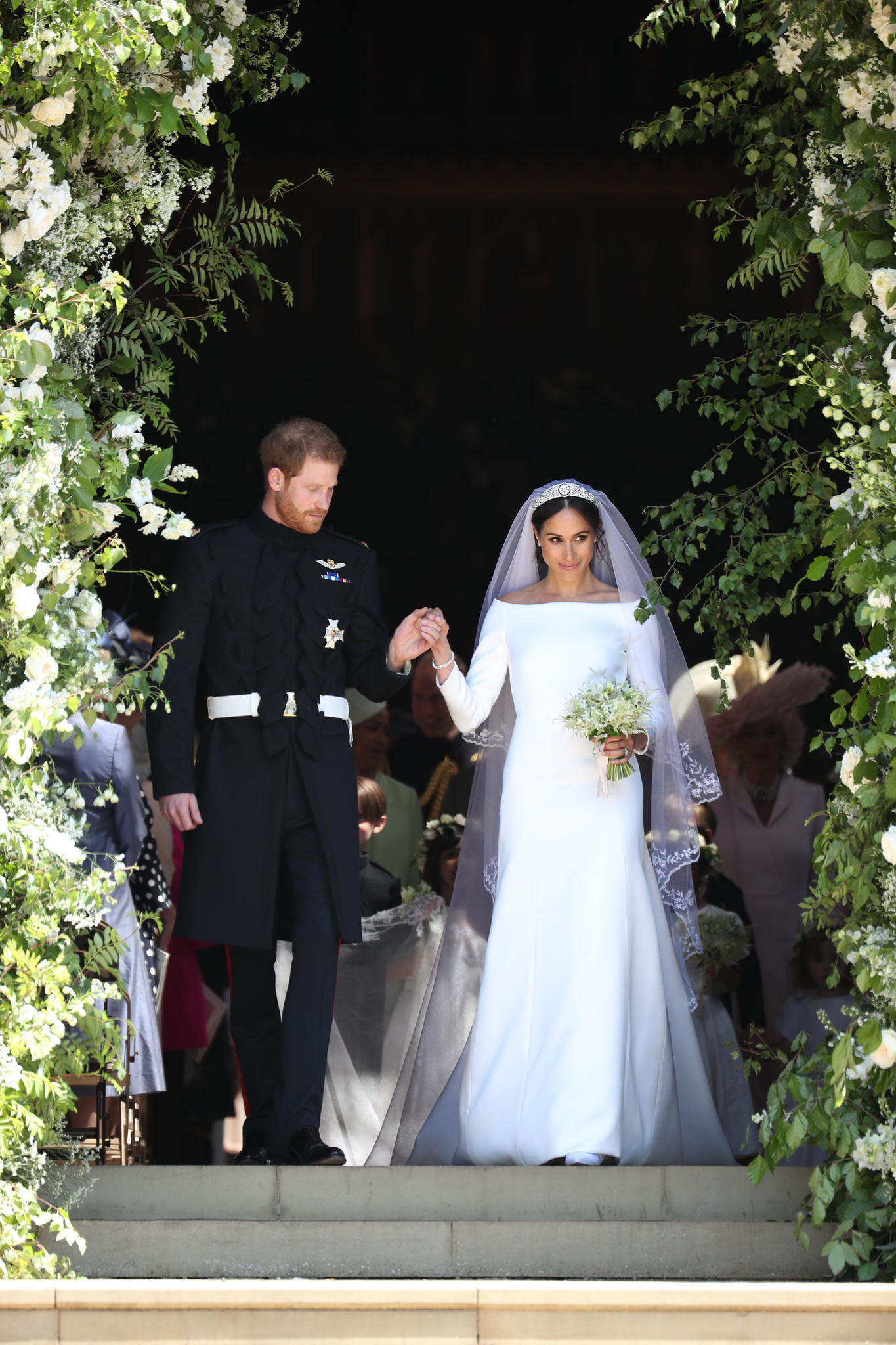 Prinz Harry und Meghan Markle vor der St George's Chapel in Windsor Castle