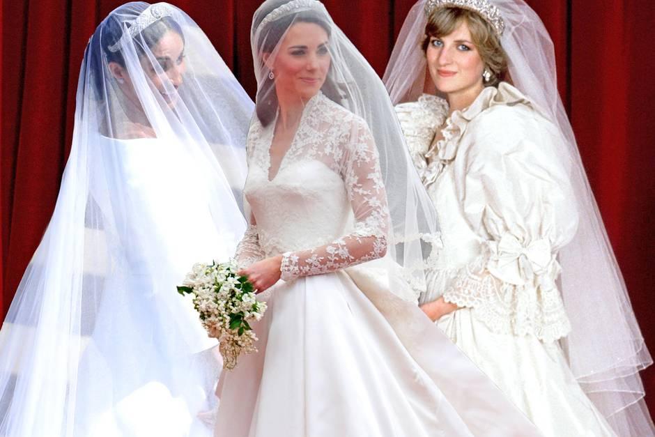 Diana, Kate + Meghan: So blieben ihre Brautkleider geheim | GALA.de