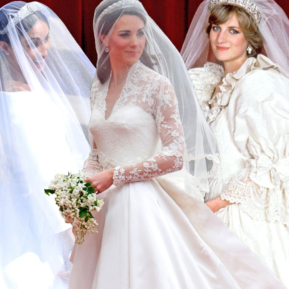 Herzogin Meghan + Herzogin Catherine + Prinzessin Diana