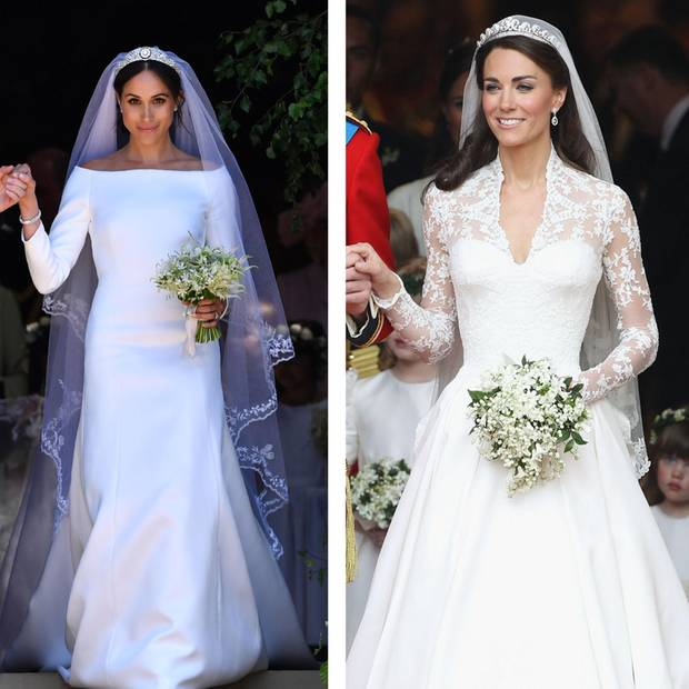 Meghan Markle in Givenchy und Catherine in Alexander McQueen
