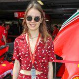 Royal Hippie! Prinzessin Alexandra strahlt an der RennstreckeCircuit de Monaco in einem gemusterten Ensemble.