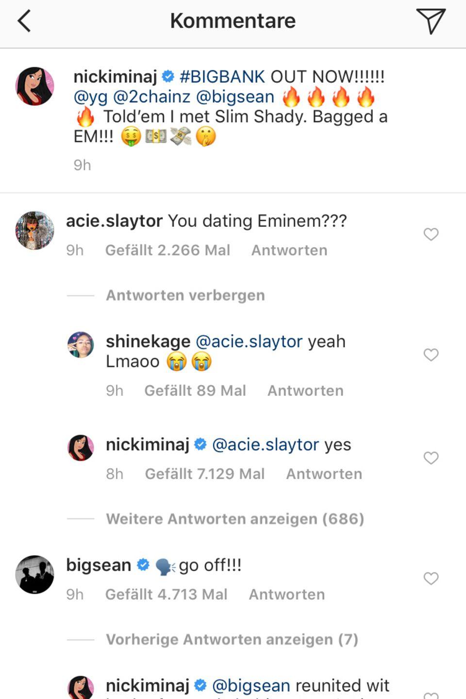 Nicki Minaj antowrtet einem Fan