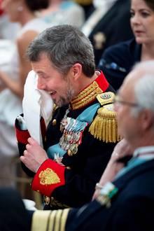 26. Mai 2018  Die Rede seiner Ehe FrauPrinzessin Mary rühren das Geburtstagskind Kronprinz Frederik zu Tränen.