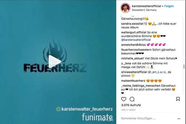 """Sängerin Michelle, bei Instagram unter dem Namen """"michelle_aktuell"""" zu finden, nennt Karsten Walter """"ihren Schatz""""."""