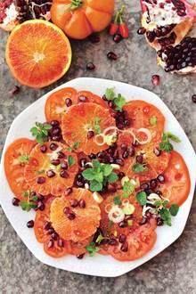 Tomatensalat mit Blutorangen