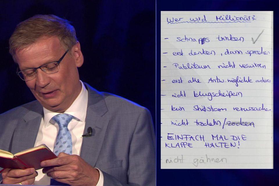 """""""Wer wird Millionär? - Das große Zocker-Special!""""  Moderator Günther Jauch."""