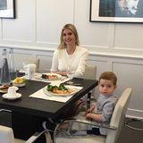 Ivanka Trumps Lunchdate ist heute ihr Sohn Theodore. Natürlich kommt bei der Unternehmerin nur Gesundes auf den Tisch.
