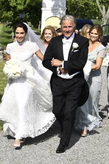 Wer kann schon von sich behaupten, eine echte Prinzessin als Brautjungfer gehabt zu haben?Louise Gottlieb, hier als wunderschöne Braut auf dem Weg zu ihrer Trauung mit Gustav Thott kann das.