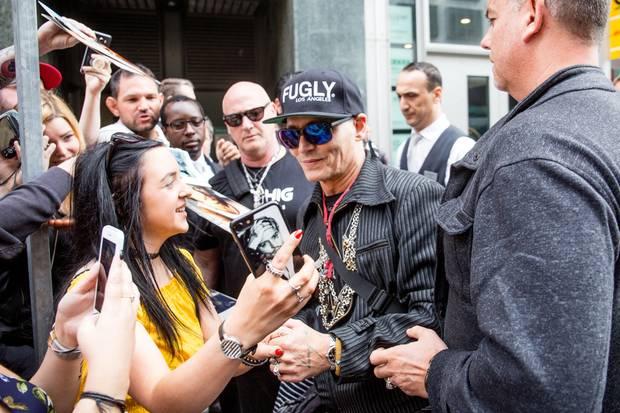 Hollywoodstar Johnny Depp in Berlin