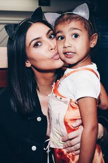 Kim Kardashian + North West