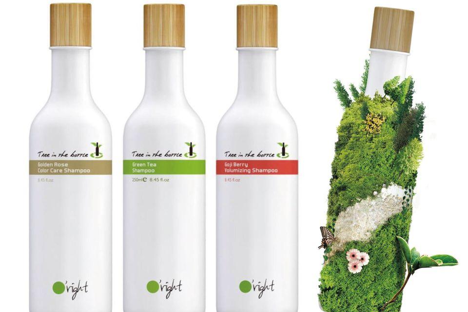 """Wenn kompostiert, wächst daraus ein Baum """"Tree in the bottle Green Tea Shampoo""""von O'Right, 250 ml, ca. 9 Euro, www.oright.at"""