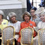 Prinzessin Margaretha, Prinzessin Désirée, Prinzessin Christina undPrinzessin Birgitta freuen sich über die festliche Zeremonie.