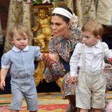Prinzessin Victoria hat alle Hände voll zu tun, beim Versuch ihren Neffen Prinz Alexander (l.) und Sohn Prinz Oscar in Schach zu halten.