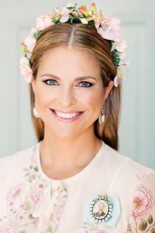 Mit diesem Porträt gratuliert der schwedische Hof Prinzessin Madeleine zum 36. Geburtstag. Aufgenommen wurde das Foto zwei Tage vor ihrem Ehrentag , am 8. Juni, ihrem Hochzeitstag und den Taufdaten ihrer Tochter Prinzessin Adrienne und Prinzessin Leonore.