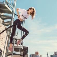 Sommerbody in the City: Auch Gigi Hadid genießt die guten Temperaturen in ihrer Sportswear.