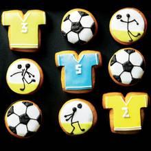 Niedliche Fußball-Kekse für die Halbzeitpause
