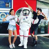 3. November 2017  Beim gemeinsamen USA-Trip euscht das Pärchen die NASA Station. Da darf ein lustiger Schnappschuss natürlich nicht fehlen.