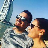 30. März 2018  Und weiter geht es nach Dubai. Giovanni und Jana Ina Zarrella genießen gemeinsam die Sonnenstrahlen.