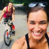 10. Juni 2018  Giovanni undJana Ina Zarrella machen eine gemeinsame Radtour.