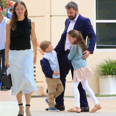 Jennifer Garner, Samuel + Seraphina Affleck-Garner, Ben Affleck