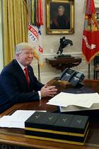 Donald Trump im Oval Office