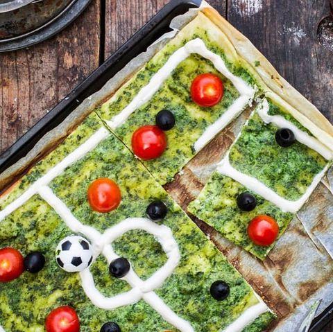 Fußball-Flammkuchen