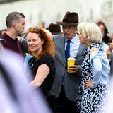 """Große Stars in Berlin: Für den Film """"The Good Liar"""" stehen Schauspielgrößen wie Ian McKellen und Helen Mirren bei der """"East Side Gallery"""" in Berlin vor der Kamera."""