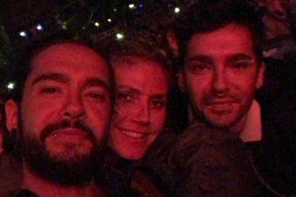 Heidi Klum im Glück: Mit Freund Tom Kaulitz (l.) und seinem Bruder Bill besucht sie am 16. Juni 2018 ein Konzert von Diana Ross