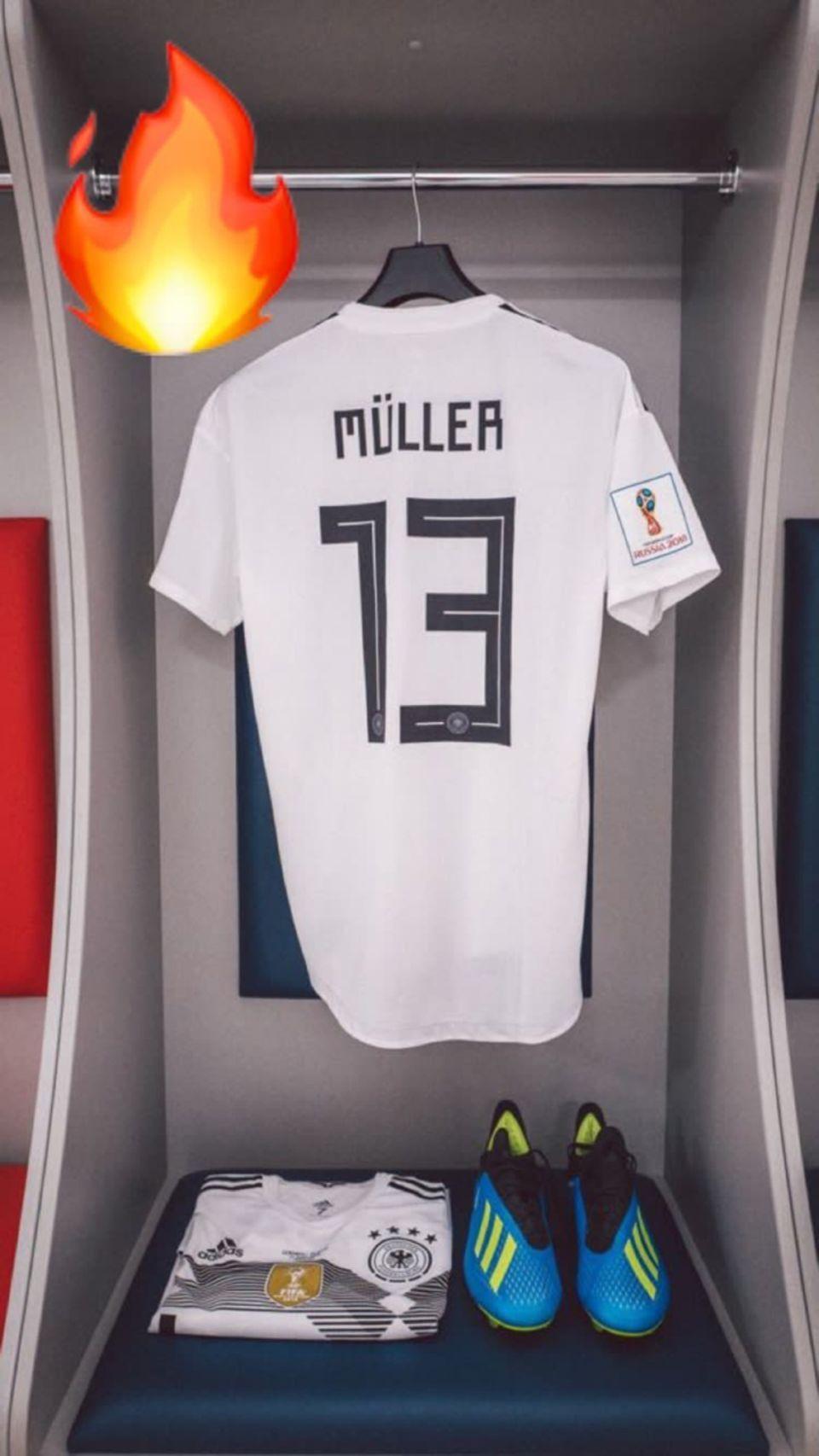 Thomas Müller ist heiß auf den Anpfiff. Im ersten Gruppenspiel muss die deutsche Mannschaft gegen Mexiko auf den Platz.